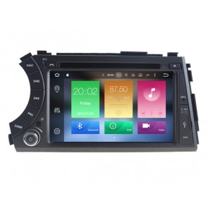 Android 6.0.1 Autoradio Lecteur DVD GPS Compatible pour SsangYong Actyon Sports-1