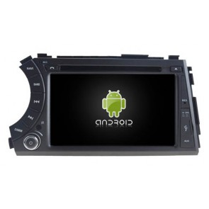 SsangYong Kyron Android 6.0.1 Autoradio DVD GPS avec Octa Core 2G Ram Ecran tactile Commande au volant et Kit mains libres Bluetooth Micro DAB+ CD USB 4G Wifi TV MirrorLink OBD2 - Android 6.0.1 Autoradio Lecteur DVD GPS Compatible pour SsangYong Kyron