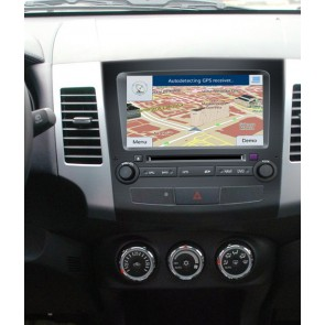 Mitsubishi Outlander S160 Android 4.4.4 Autoradio GPS DVD avec HD Ecran tactile Support Smartphone Bluetooth kit main libre Microphone RDS CD SD USB 3G Wifi TV MirrorLink - S160 Android 4.4.4 Autoradio Lecteur DVD GPS Compatible pour Outlander (2006-2012)