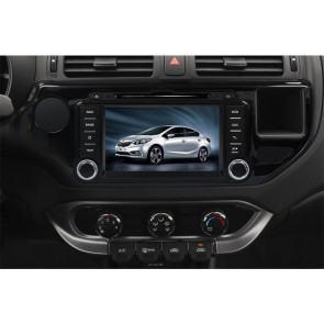 Kia Pride S160 Android 4.4.4 Autoradio GPS DVD avec HD Ecran tactile Support Smartphone Bluetooth kit main libre Microphone RDS CD SD USB 3G Wifi TV MirrorLink - S160 Android 4.4.4 Autoradio Lecteur DVD GPS Compatible pour Kia Pride (2011-2014)
