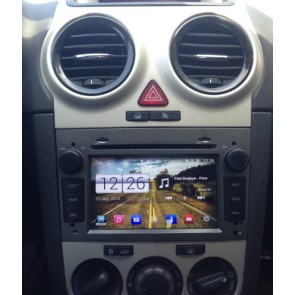 Opel Corsa S160 Android 4.4.4 Autoradio GPS DVD avec HD Ecran tactile Support Smartphone Bluetooth kit main libre Microphone RDS CD SD USB 3G Wifi TV MirrorLink - S160 Android 4.4.4 Autoradio Lecteur DVD GPS Compatible pour Opel Corsa (2006-2011)