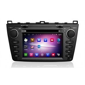 Mazda 6 S160 Android 4.4.4 Autoradio GPS DVD avec HD Ecran tactile Support Smartphone Bluetooth kit main libre Microphone RDS CD SD USB 3G Wifi TV MirrorLink - S160 Android 4.4.4 Autoradio Lecteur DVD GPS Compatible pour Mazda 6 (2008-2012)