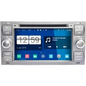 Ford Tourneo Connect S160 Android 4.4 Autoradio GPS DVD Avec Quad-Core HD Ecran tactile capacitif multi-point Bluetooth GPS iPod TV Wifi DVR MirrorLink - S160 Android 4.4 Autoradio Lecteur DVD GPS Compatible pour Ford Tourneo Connect (2007-2009)