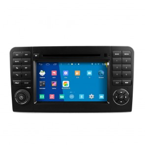 Mercedes ML W164 S160 Android 4.4.4 Autoradio GPS DVD avec HD Ecran tactile Support Smartphone Bluetooth kit main libre Microphone RDS CD SD USB 3G Wifi TV MirrorLink - S160 Android 4.4.4 Autoradio Lecteur DVD GPS Compatible pour Mercedes ML W164