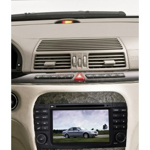 Mercedes W220 S160 Android 4.4.4 Autoradio GPS DVD avec HD Ecran tactile Support Smartphone Bluetooth kit main libre Microphone RDS CD SD USB 3G Wifi TV MirrorLink - S160 Android 4.4.4 Autoradio Lecteur DVD GPS Compatible pour Mercedes Classe S W220