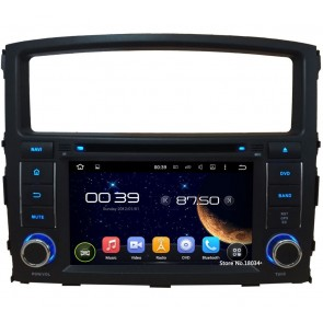 Mitsubishi Pajero IV Android 5.1.1 Autoradio DVD GPS Navigation avec Ecran tactile Bluetooth Parrot Telecommande au Volant DAB+ Microphone RDS USB 3G Wifi TV MirrorLink OBD2 - Android 5.1.1 Autoradio Lecteur DVD GPS Compatible pour Pajero IV (2006-2016)