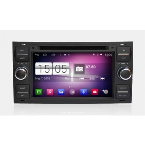Ford Fiesta S160 Android 4.4.4 Autoradio GPS DVD avec HD Ecran tactile Support Smartphone Bluetooth kit main libre Microphone RDS CD SD USB 3G Wifi TV MirrorLink - S160 Android 4.4.4 Autoradio Lecteur DVD GPS Compatible pour Ford Fiesta (2005-2008)-1