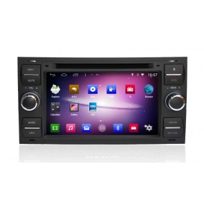 Ford Focus S160 Android 4.4.4 Autoradio GPS DVD avec HD Ecran tactile Support Smartphone Bluetooth kit main libre Microphone RDS CD SD USB 3G Wifi TV MirrorLink - S160 Android 4.4.4 Autoradio Lecteur DVD GPS Compatible pour Ford Focus (2005-2007)
