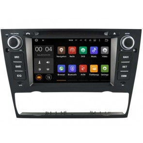 BMW Série 3 E91 Android 7.1 Autoradio DVD GPS avec 2G Ram Ecran tactile Commande au volant et Kit mains libres Bluetooth Micro DAB+ CD SD USB 4G Wifi TV MirrorLink OBD2 - Android 7.1.1 Autoradio Lecteur DVD GPS Compatible pour BMW Série 3 E91 (2005-2012)