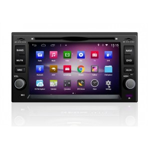 Kia Rio S160 Android 4.4.4 Autoradio GPS DVD avec HD Ecran tactile Support Smartphone Bluetooth kit main libre Microphone RDS CD SD USB 3G Wifi TV MirrorLink - S160 Android 4.4.4 Autoradio Lecteur DVD GPS Compatible pour Kia Rio (2005-2011)