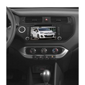 Kia Pride S160 Android 4.4.4 Autoradio GPS DVD avec HD Ecran tactile Support Smartphone Bluetooth kit main libre Microphone RDS CD SD USB 3G Wifi TV MirrorLink - S160 Android 4.4.4 Autoradio Lecteur DVD GPS Compatible pour Kia Pride (De 2015)