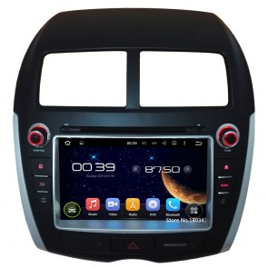 Mitsubishi RVR Android 5.1.1 Autoradio DVD GPS Navigation avec Ecran tactile Bluetooth Parrot Telecommande au Volant DAB+ Microphone RDS CD SD USB 3G Wifi TV MirrorLink OBD2 - Android 5.1.1 Autoradio Lecteur DVD GPS Compatible pour Mitsubishi RVR