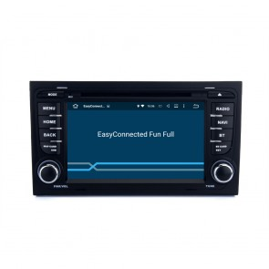 Audi S4 Android 5.1.1 Autoradio DVD GPS Navigation avec Ecran tactile Bluetooth Commande au Volant Microphone RDS CD SD USB 3G Wifi TV MirrorLink OBD2 - Android 5.1.1 Autoradio Lecteur DVD GPS Compatible pour Audi S4 (2002-2008)